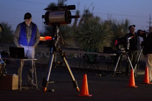 Curt Hughes sets up his telescope for an evening of astrophotography at Starizona in Tucson, Ariz. on Jan. 3, 2014. Hughes, an amateur astronomer, will spend the evening photographing objects in deep space. Photograph by Susan E. Swanberg.
